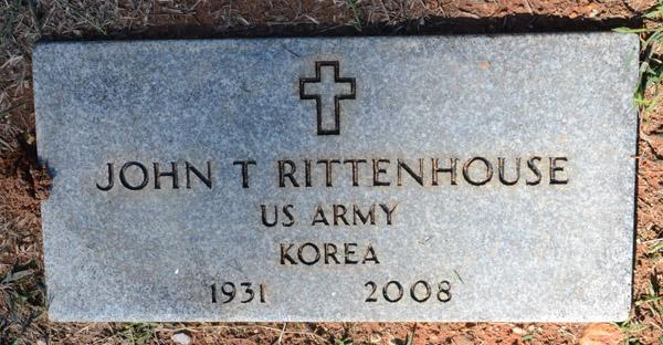 John Tarleton Rittenhouses Military Headstone Antioch Baptist
