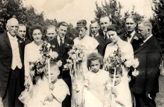 Wedding of James Emmons McFarland and Helen Harris
