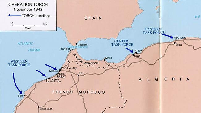 casablanca north africa map